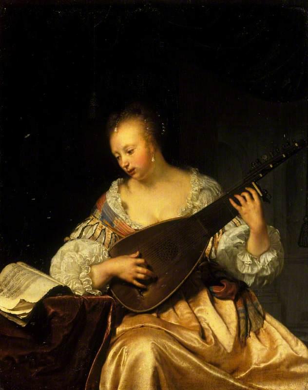 Franz van Miris the Elder. The woman playing the lute