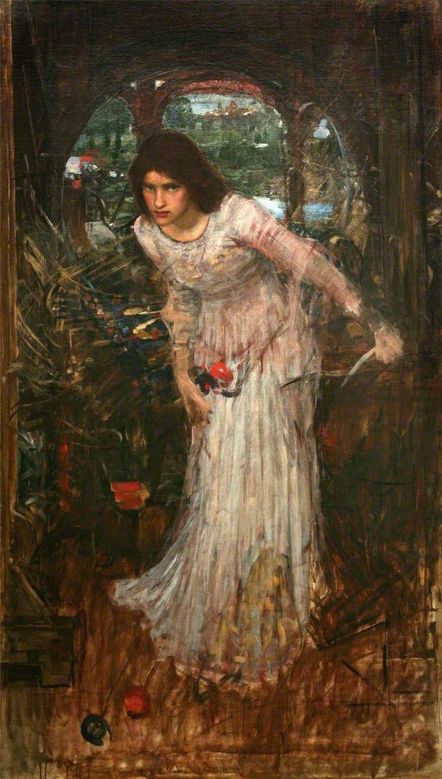 a literary analysis of a relationship between men and women in the lady of shalott