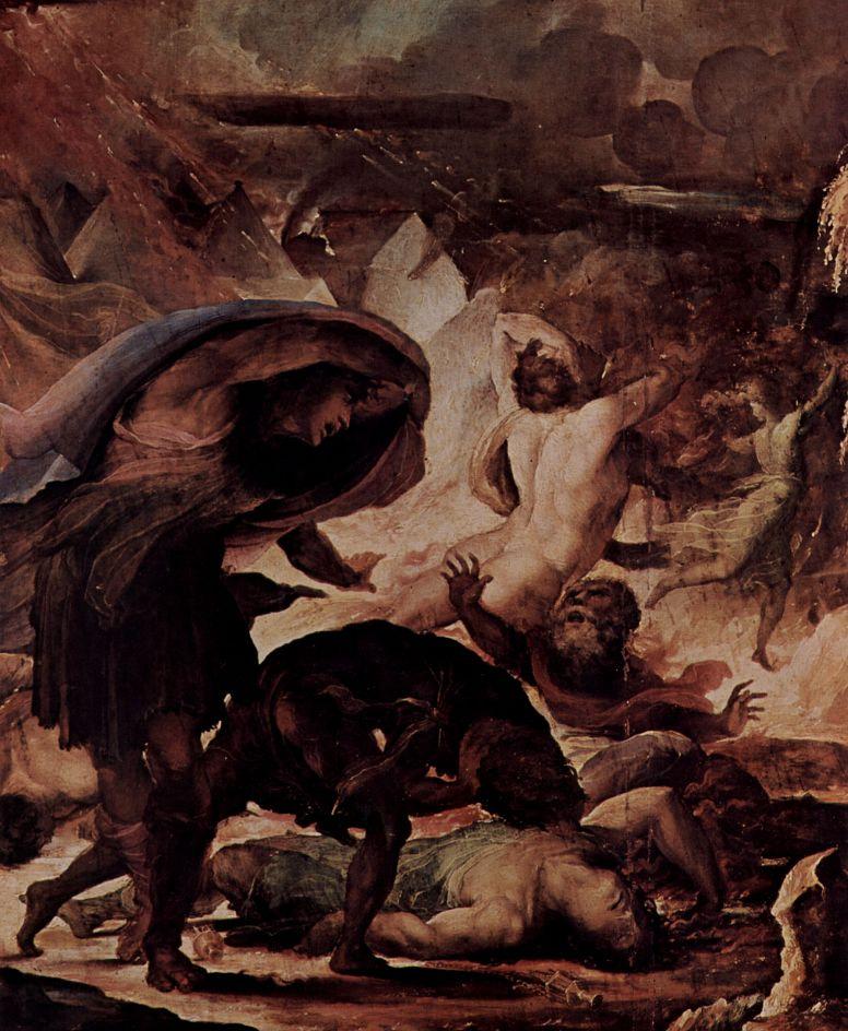 Доменико Беккафуми. Наказание адским огнем. Страшный суд, деталь