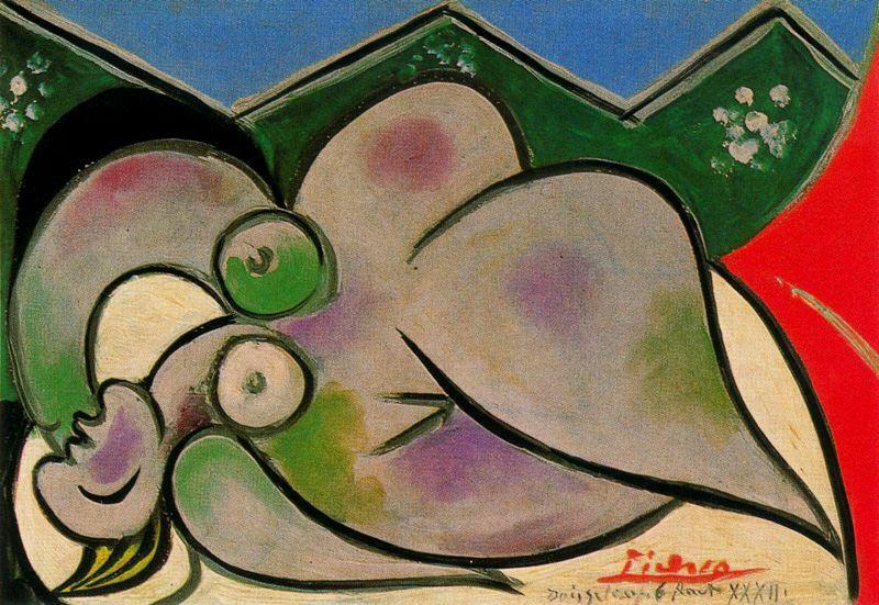 Пабло Пикассо. Лежащая женщина