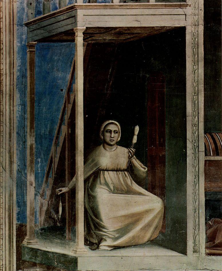 Джотто ди Бондоне. Благовещение святой Анне, деталь