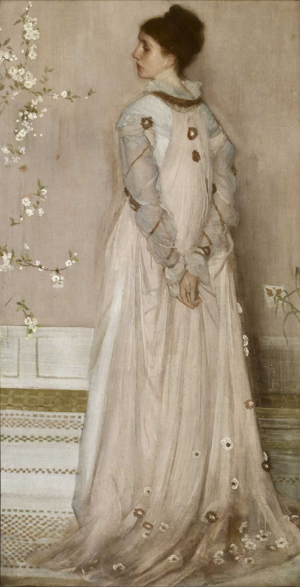 James Abbot McNeill Whistler. Symphony in Flesh Colour and Pink: Portrait of Mrs Frances Leyland