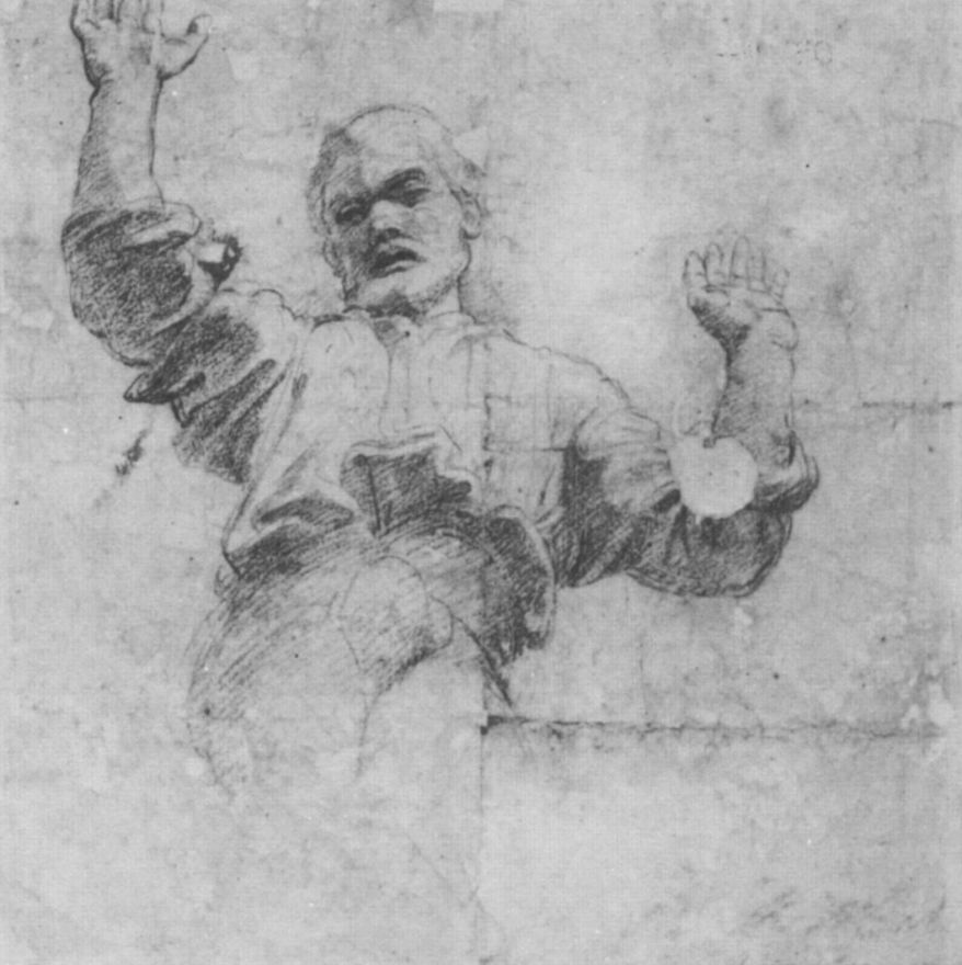 Рафаэль Санти. Бог-Отец. Этюд к мозаике купола Капеллы Киджи