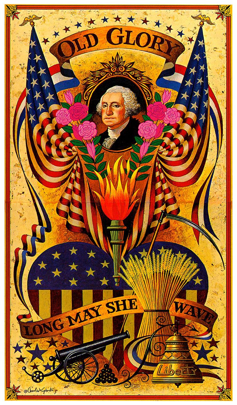 Charles Vysotsky. USA flag