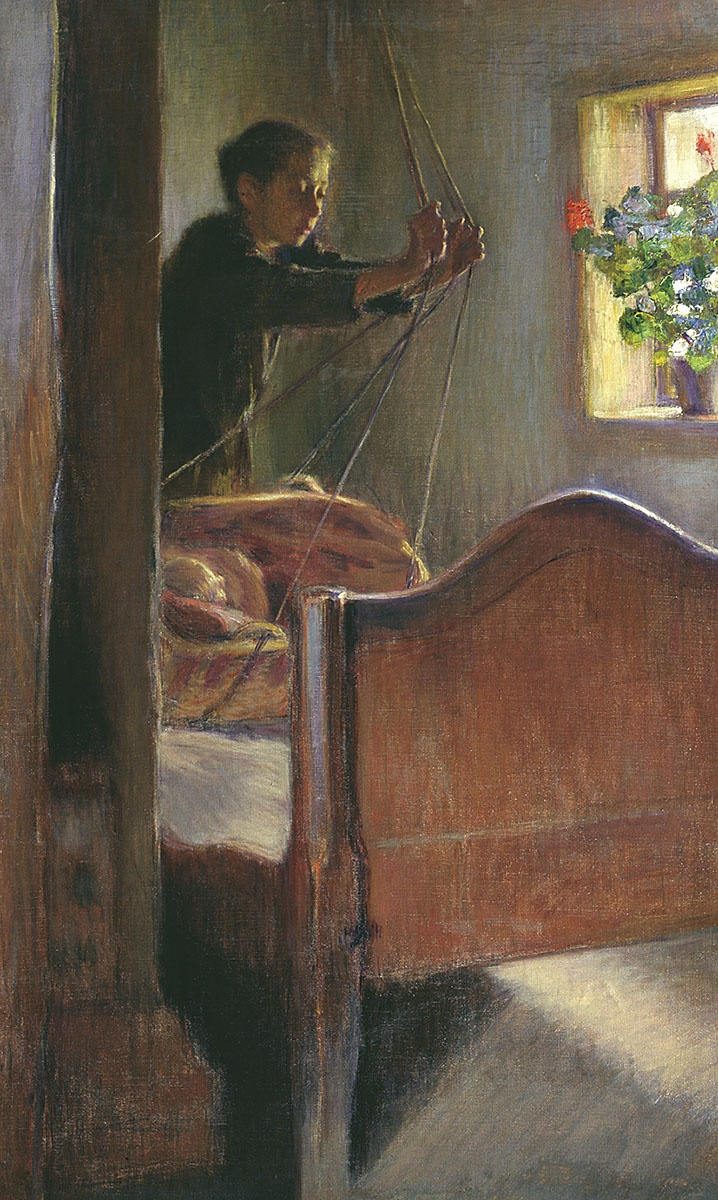 Osip Emmanuilovich (Joseph) Braz. At the cradle. 1894