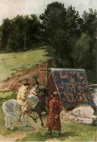 "Elena Dmitrievna Polenova. Illustration for the fairy tale ""Sivka-burka"""