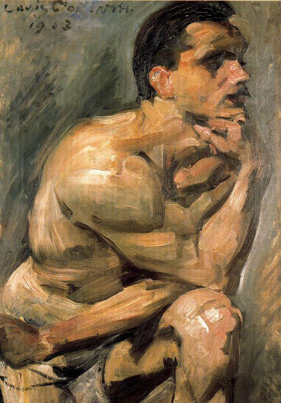 Lovis Corinth. A naked man