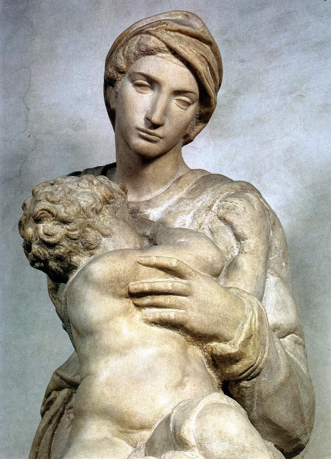 Микеланджело Буонарроти. Мадонна Медичи. Фрагмент.