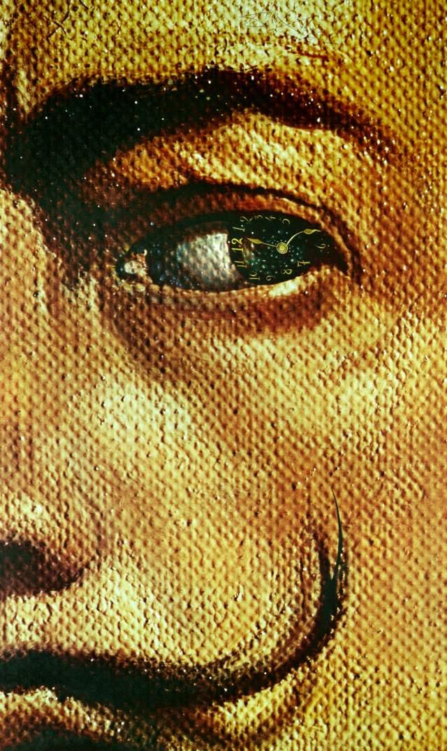 Сальвадор Дали. Макрофотографический автопортрет с явлением Галы