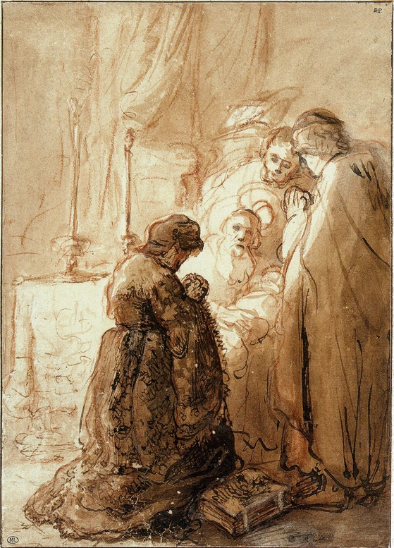 Jan Lievens. The introduction of Christ into the temple