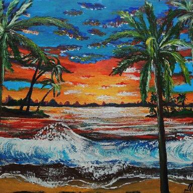 Natalia Anatolyevna Leisure. Coast of the Coribe.