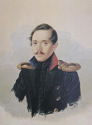 Портрет М.Ю. Лермонтова в гусарском сюртуке