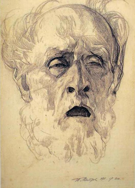 Ivan Grigorievich Myasoedov. Agony. Portrait of father on his deathbed