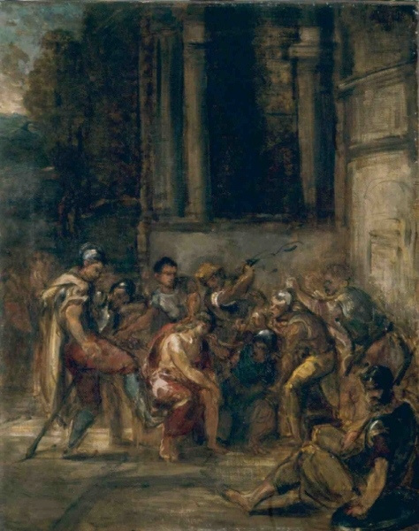 Eugene Delacroix. Christ in the Palace of Pilate