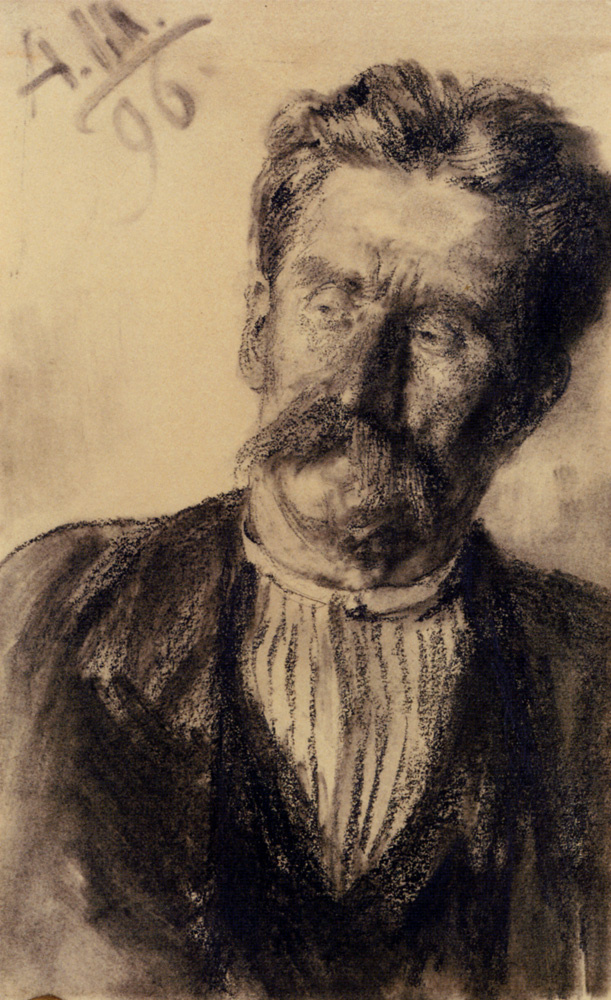 Адольф фон Менцель. Голова мужчины