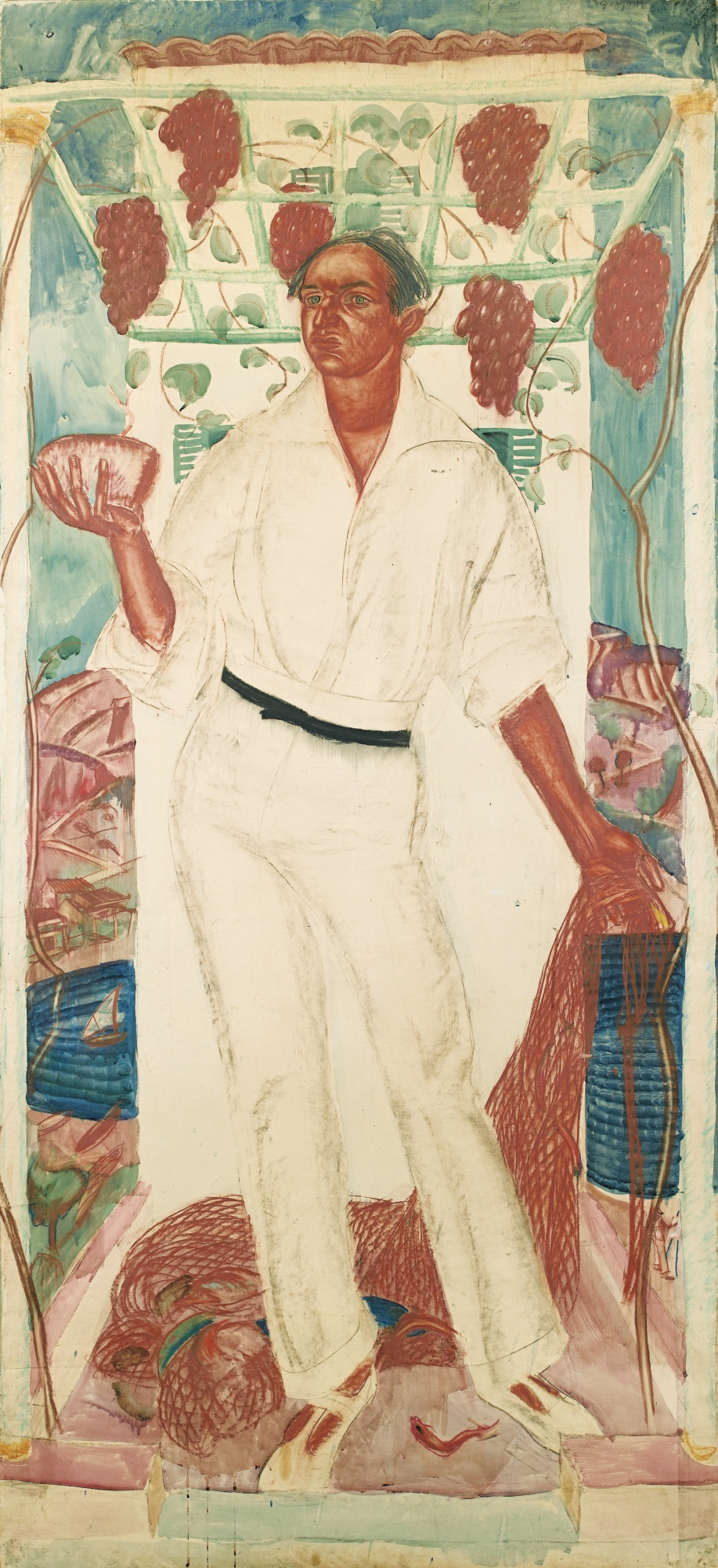 Alexander Yakovlev. Portrait of Roberto Montenegro. 1915