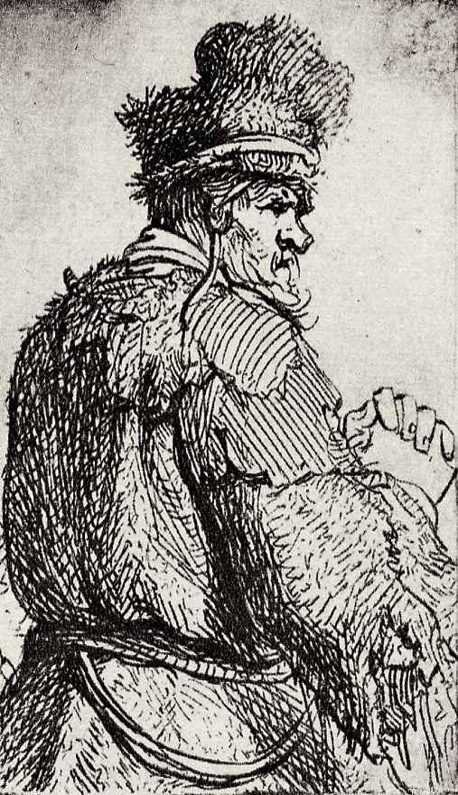 Рембрандт Харменс ван Рейн. Старик со спины