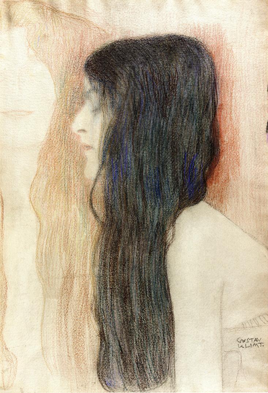 Gustav Klimt. Girl with flowing hair