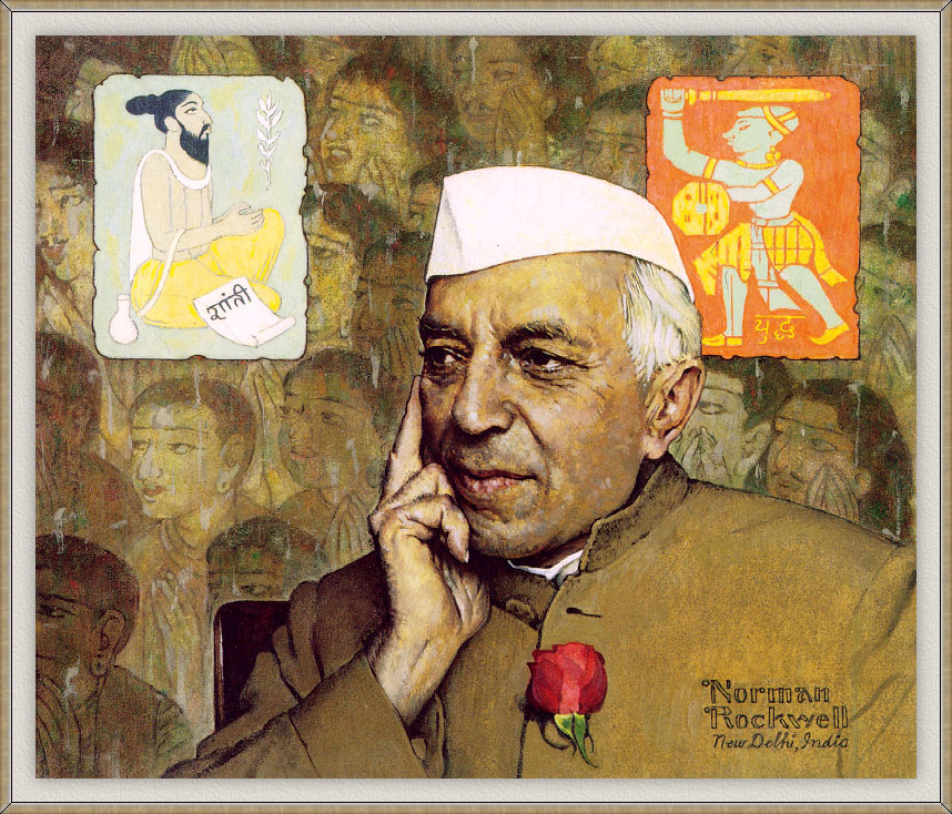 """Norman Rockwell. The Portrait Of Nehru. Cover of """"The Saturday Evening Post"""" (January 19, 1963)"""
