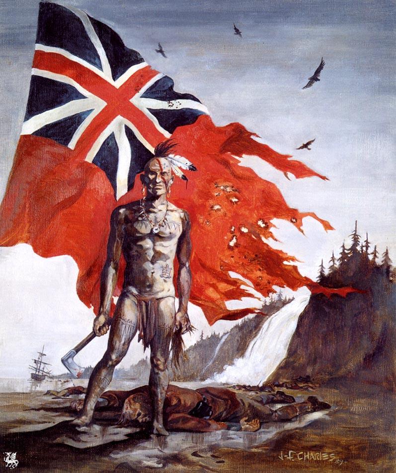 John Frederick Charles. The bloody flag