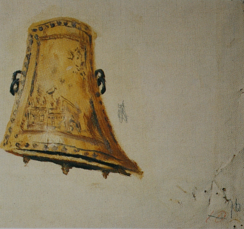 "Ilya Efimovich Repin. Cossack saddle wing. Study for the painting ""Cossacks"". State Tretyakov Gallery."