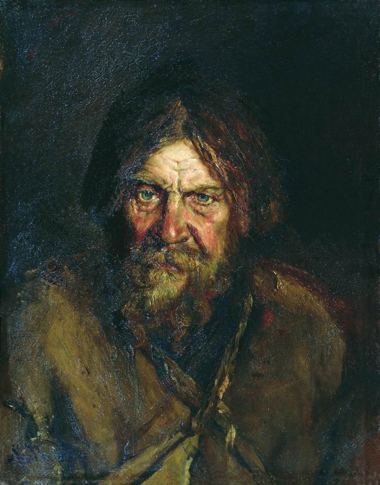 Василий Максимович Максимов. Голова крестьянина. Этюд