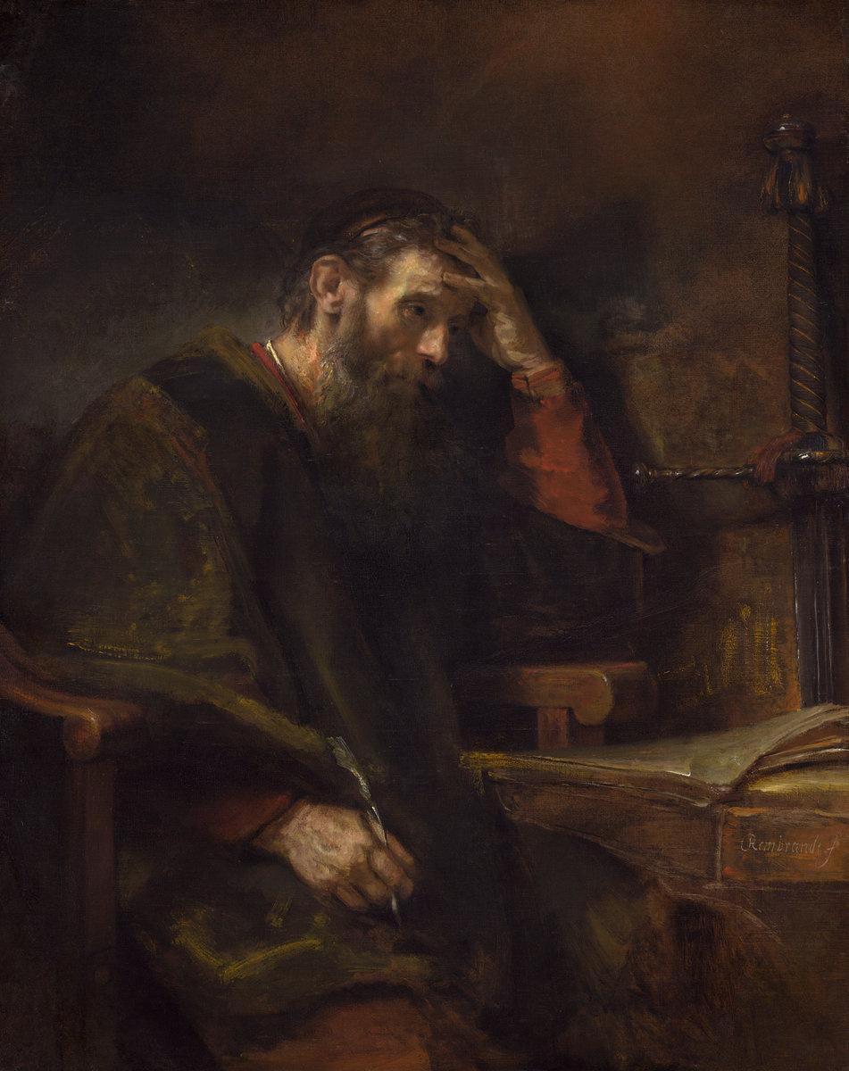 Rembrandt Harmenszoon van Rijn. The Apostle Paul
