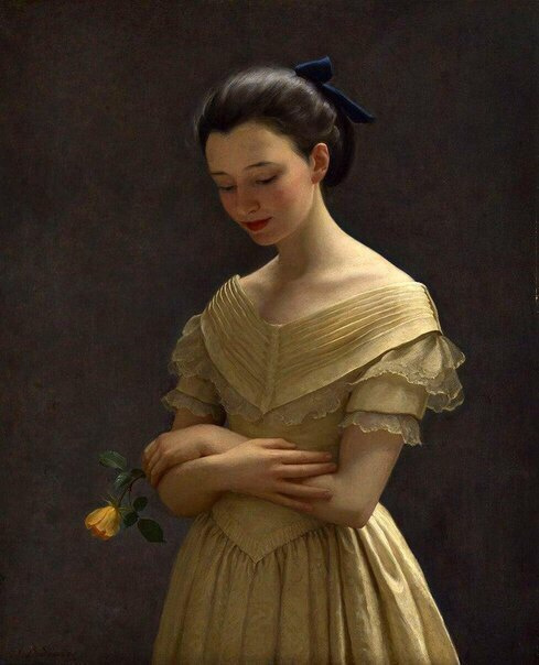 Джон Баллок Саутер. Жёлтое платье