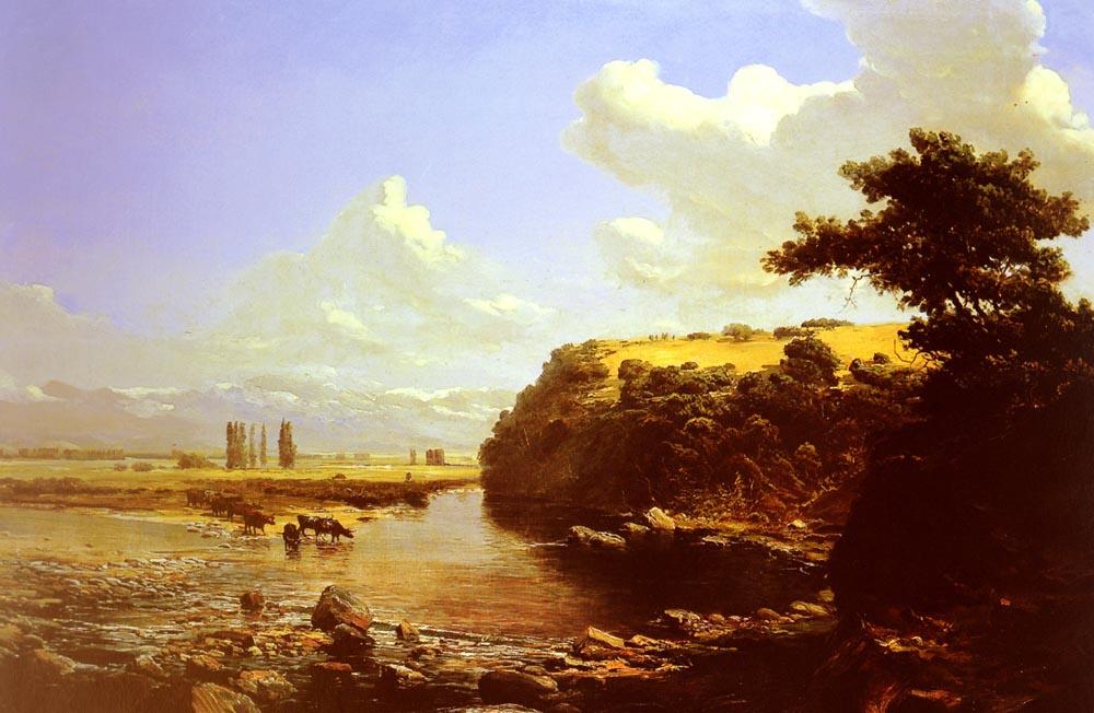 Томас Жак Сомерскалес. Крупный рогатый скот у реки