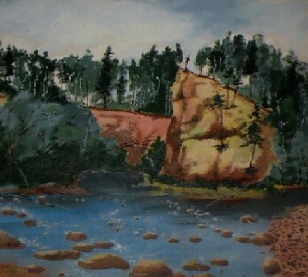 Vladimir Adamovich Ropot. At the cliff