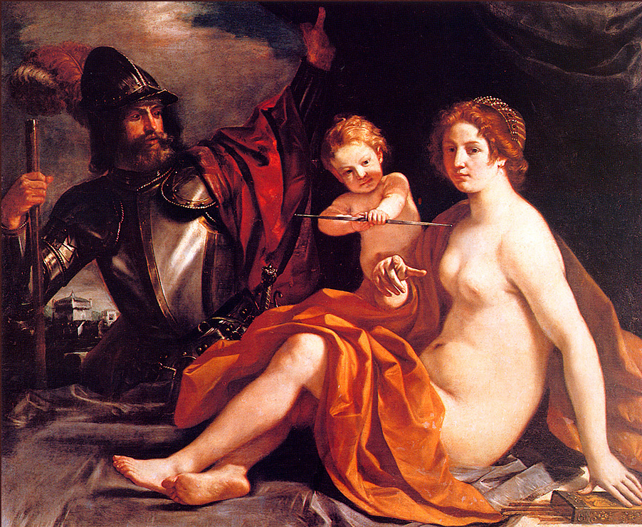 Giovanni Francesco Guercino. Venus, Cupid and Mars
