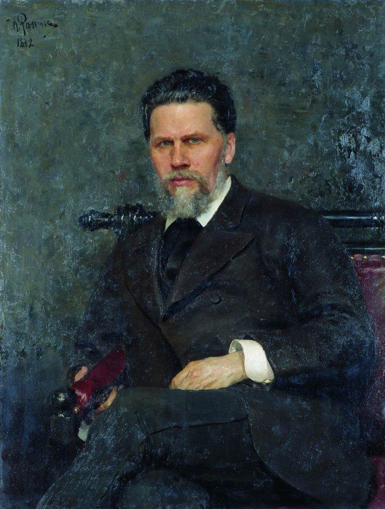 Илья Ефимович Репин. Портрет художника И. Н. Крамского
