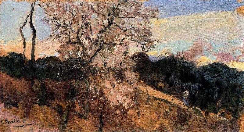 Хоакин Соролья (Соройя). Миндальные деревья в Азисе