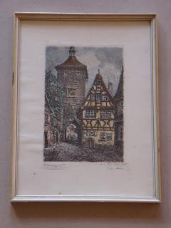 Отто Пробст Фердинанд. Street scene of Rothenburg ob der Tauber.