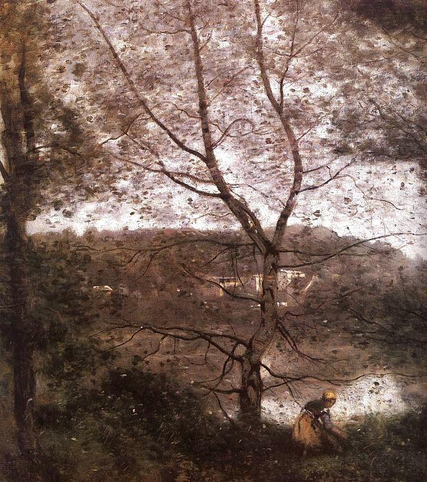 Камиль Коро. Женщина под деревом