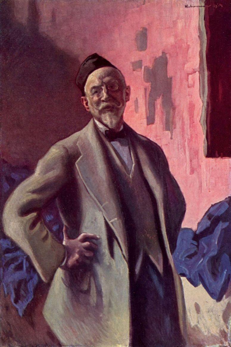 Hugo Baron background Haberman. Self-portrait
