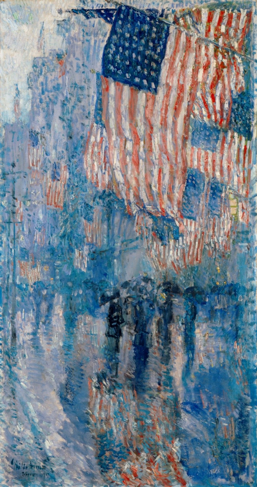"Childe Hassam. Avenue in the rain series (""Flags"")"