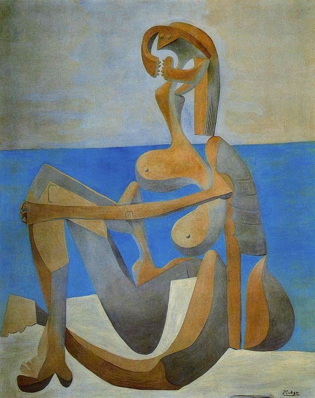 Пабло Пикассо. Купальщица на берегу моря