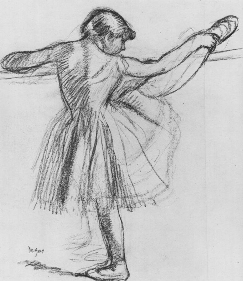 Edgar Degas. Ballerina at the Barre