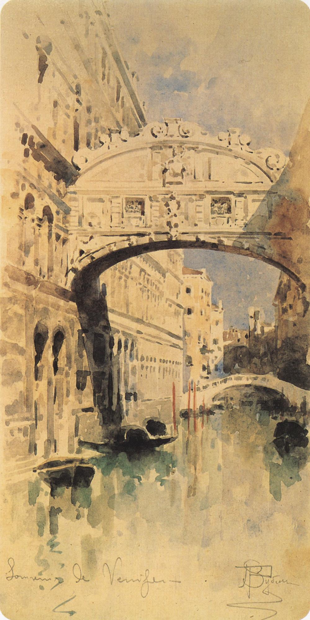 Mikhail Vrubel. The bridge of sighs. Venice
