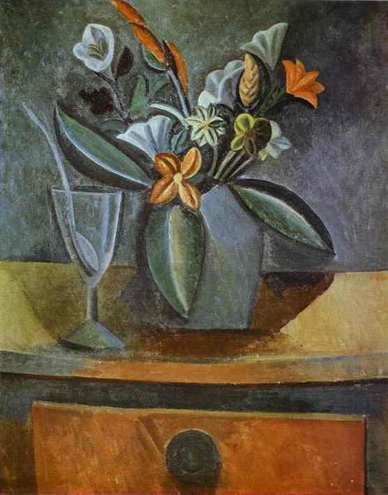 Пабло Пикассо. Цветы в кувшине