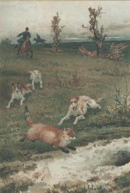 Alexey Danilovich Kivshenko. Fox hunting. 1882