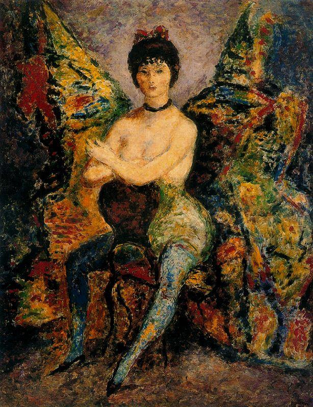 Артуро Соуто. Полуобнаженная женщина на стуле