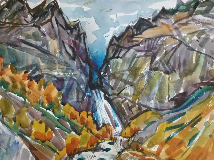 Natalia Gennadievna Torlopova. Waterfall