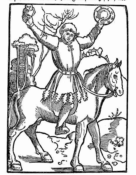Ханс Бальдунг. На коне с совой и зеркалом