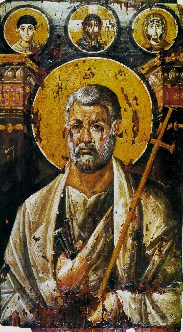 Unknown artist. Apostle Peter (icon from the Sinai Monastery)