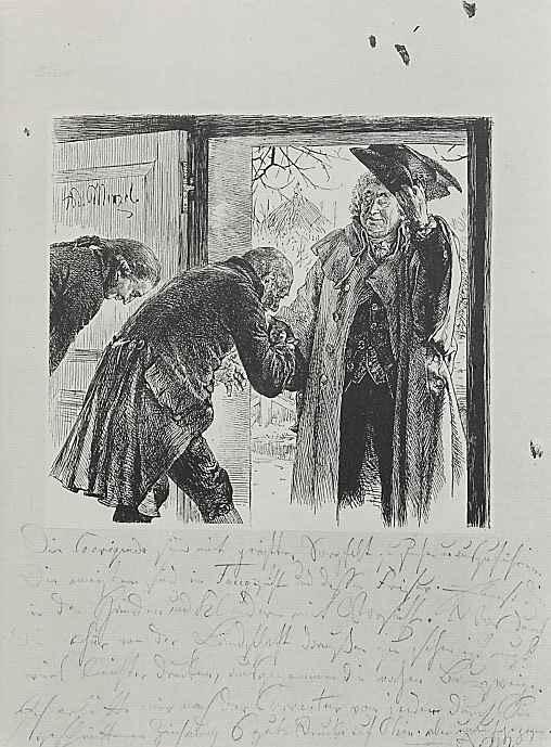 Адольф фон Менцель. Входящего советника суда Вальтера, низко кланяясь