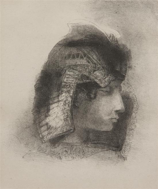 Odilon Redon. A person in profile