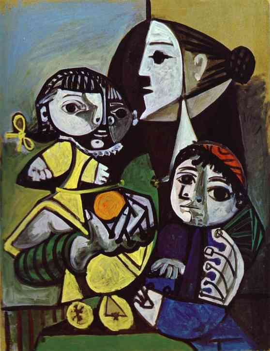Pablo Picasso. Francoise, Claude and Paloma