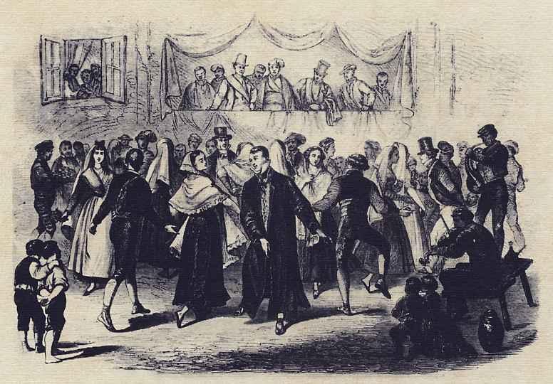 Хосе Пуиггари. Танец на деревенской площади